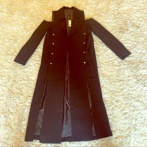 Romeo&Juliet long jacket with slits and cutouts